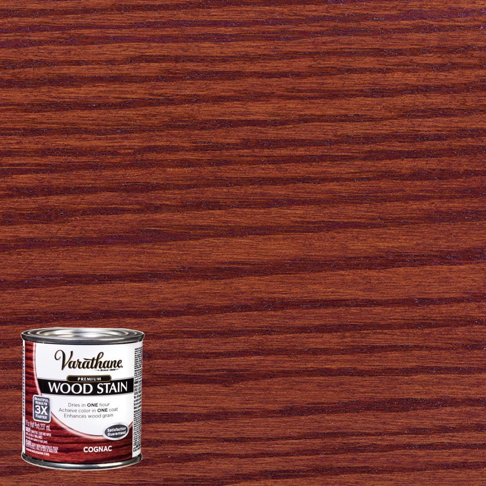 8 oz. Cognac Premium Fast Dry Interior Wood Stain (4-Pack)