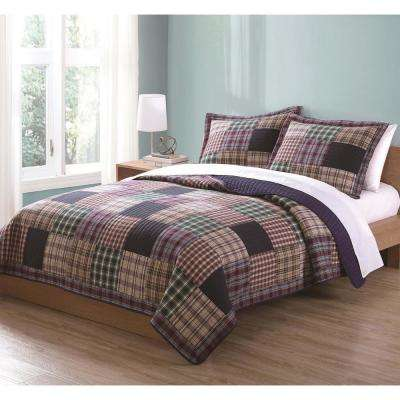 Bradley Multi King Quilt with 2-Shams