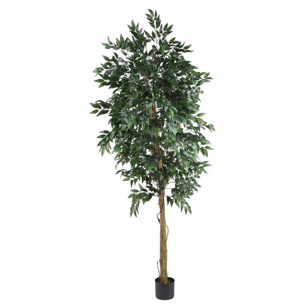 Nearly Natural 6 ft. Smilax Silk Tree, Greens