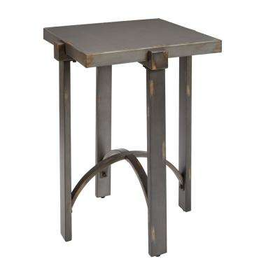 Lewis Bronze Square Metal Top End Table