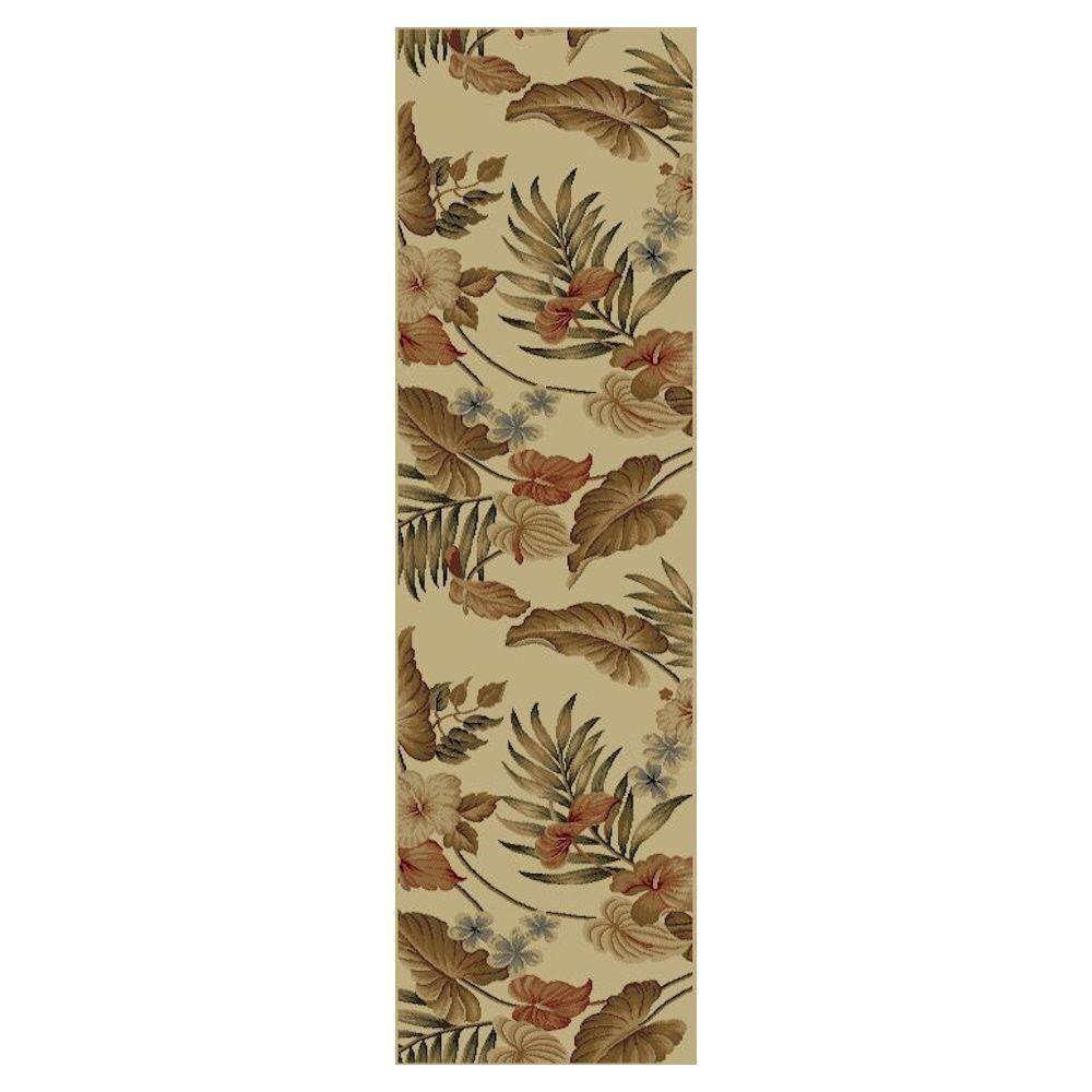 Kas Rugs Tropic Sun Ivory 2 ft. 3 in. x 7 ft. 7 in. Rug Runner