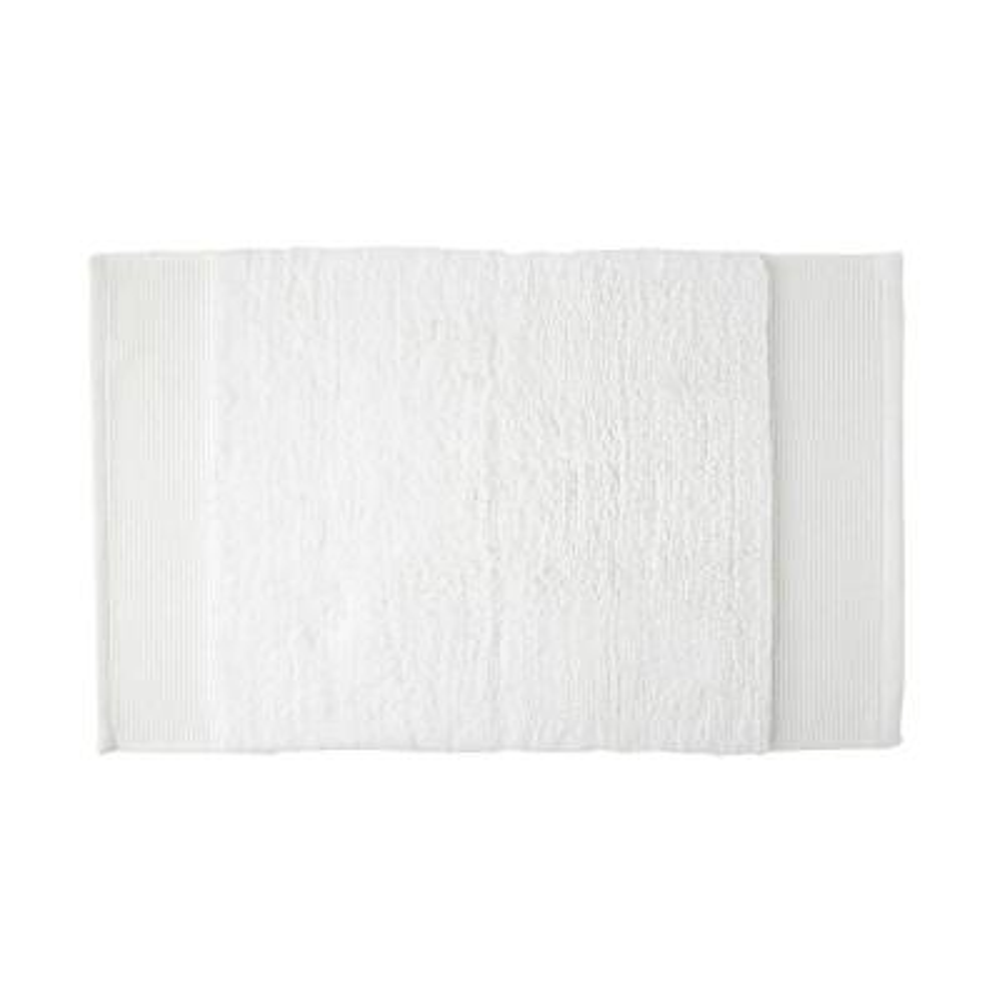 Organic White 24 in. x 40 in. Cotton Bath Rug