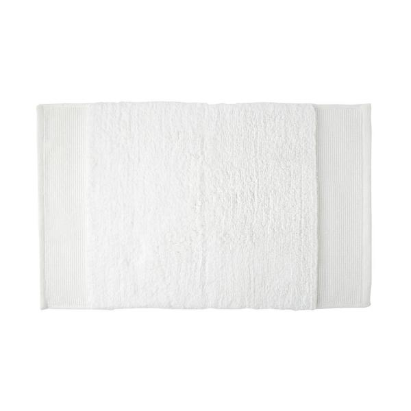 Organic White 24 in. x 40 in. Cotton Bath Rug