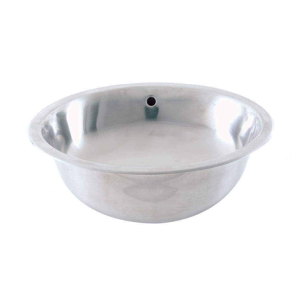 Simply Stainless Drop-In Bathroom Sink in Brushed Stainless Steel
