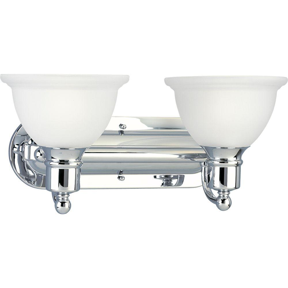 Progress Lighting Madison Collection 2-Light Polished Chrome Vanity ...
