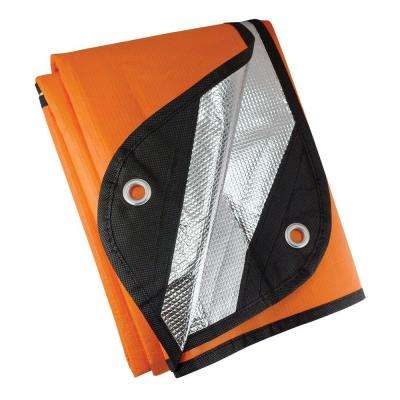 60 in. x 83 in. Waterproof Survival Blanket in Orange