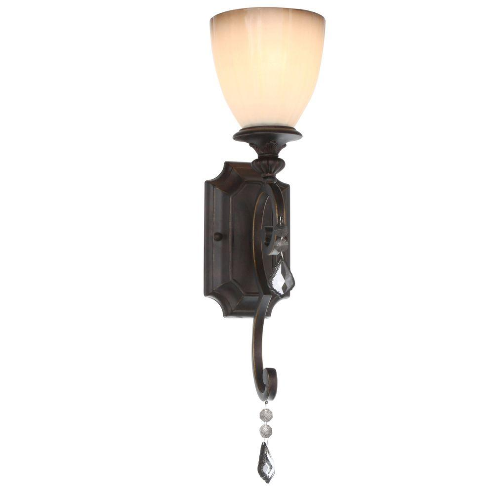 World Imports Avila Collection 1-Light Bronze Wall Sconce