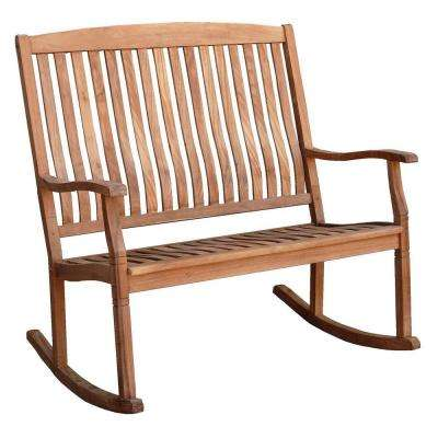 Heaton Wood Loveseat Outdoor Rocking Chair
