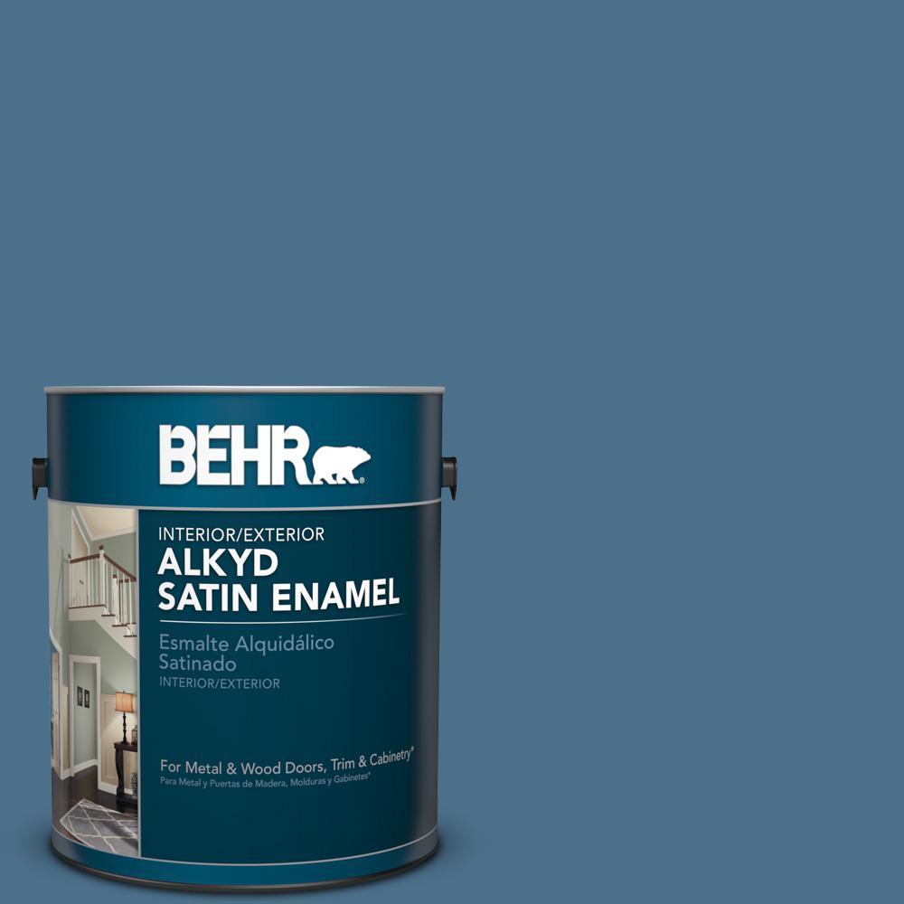 1 gal. #PPU14-1 Arrowhead Lake Satin Enamel Alkyd Interior/Exterior Paint