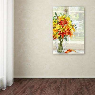 """24 in. x 16 in. """"Roses Lillies"""" by The Macneil Studio Printed Canvas Wall Art"""