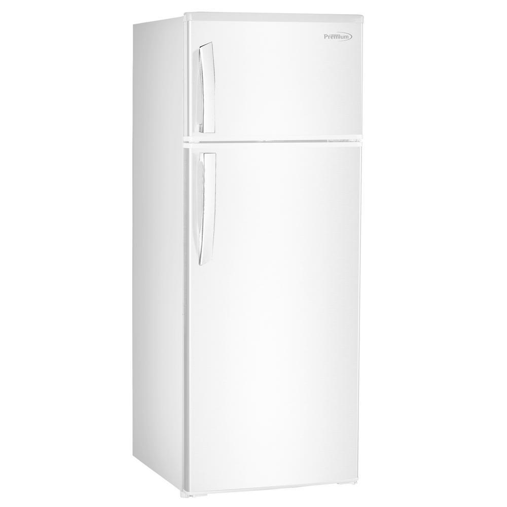 PREMIUM 7.4 cu. ft. Top Freezer Refrigerator in White, Counter Depth PREMIUM 7.4 cu. ft. Top Freezer Refrigerator in White, Counter Depth
