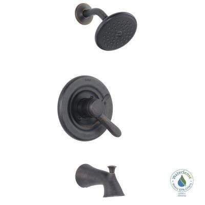 Lahara Single-Handle 1-Spray Tub and Shower Faucet in Venetian Bronze