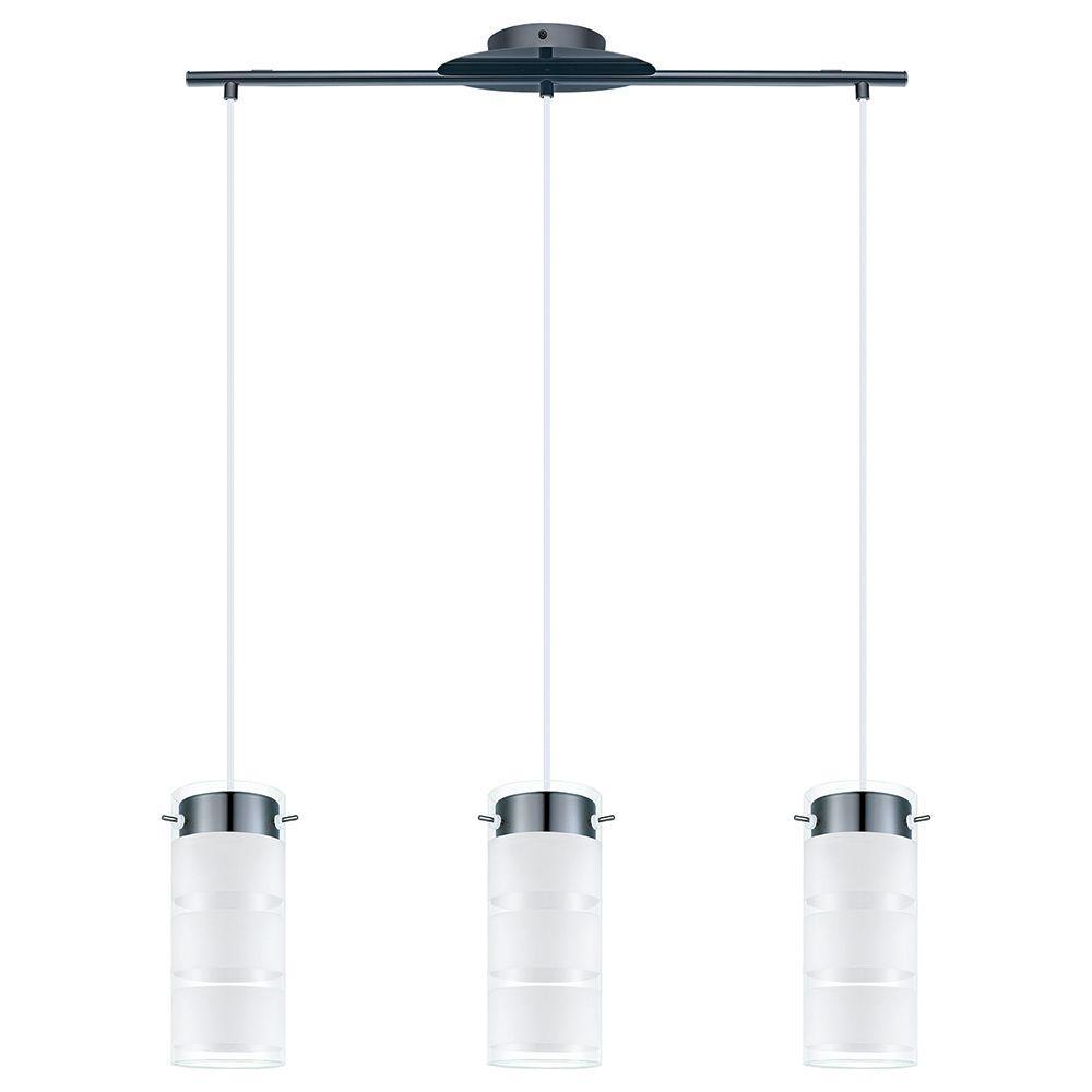 4 pendant light fixture modern bathroom eglo olvero 100watt black chrome integrated led pendant pendant93904a