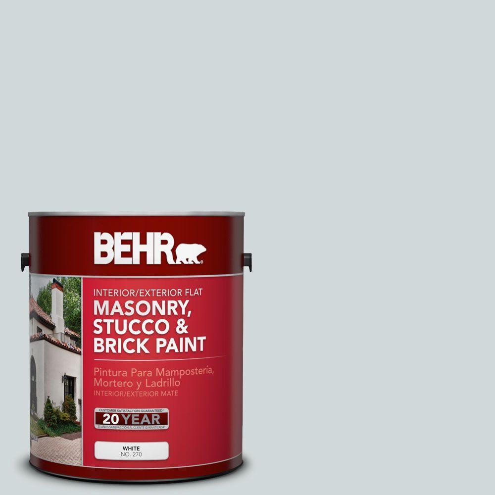 1 gal. #MS-65 Winter Days Satin Interior/Exterior Masonry, Stucco and Brick Paint
