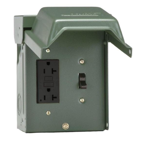 20 Amp Backyard Outlet with Switch and GFI Receptacle