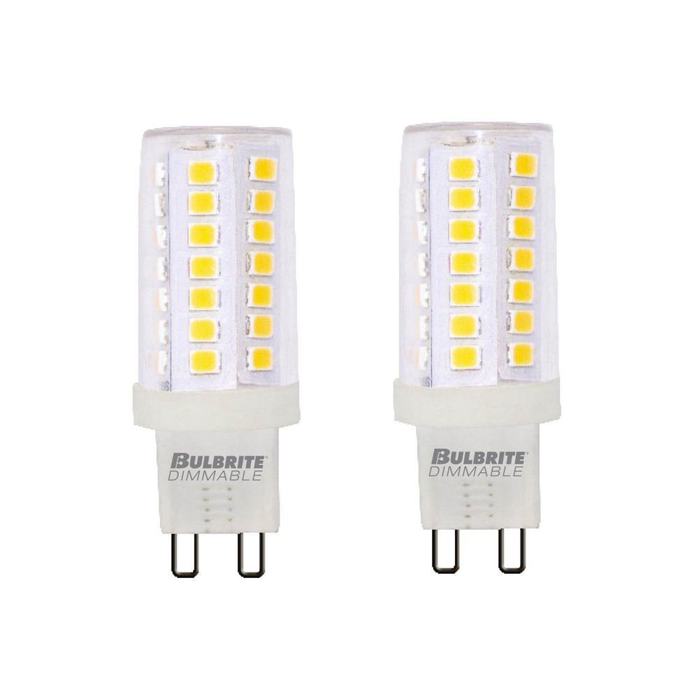 60-Watt Equivalent T6 Dimmable Bi-Pin (G9) LED Light Bulb Warm White Light (2-Pack)