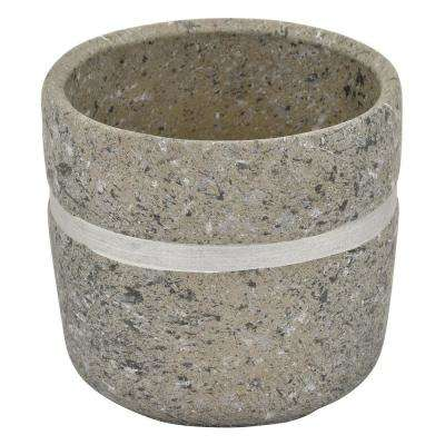 6.75 in. Terra Cotta Flower Pot in Gray