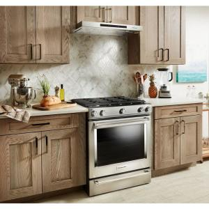 Kitchenaid 30 In Low Profile Under Cabinet Ventilation Range Hood With Light In Stainless Steel
