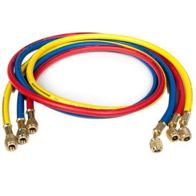 5 ft. Long PolarShield Hoses with Standard 1/4 in. Fittings, for Use with all Refrigerants (Set of 3)