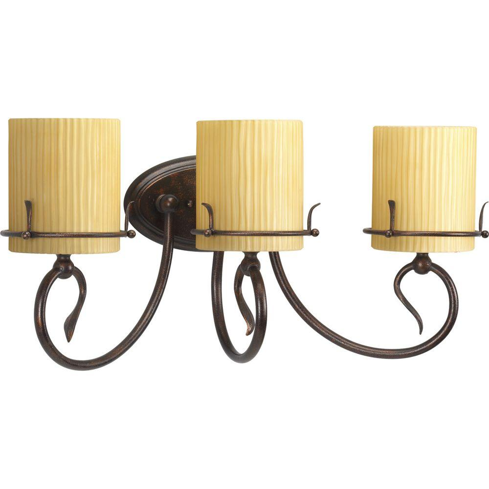 Thomasville Lighting Willow Creek Collection Weathered Auburn 3-light Vanity Fixture-DISCONTINUED