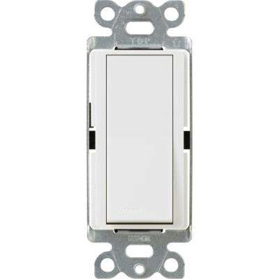 Claro 15 Amp 3-Way Rocker Switch with Locator Light, White