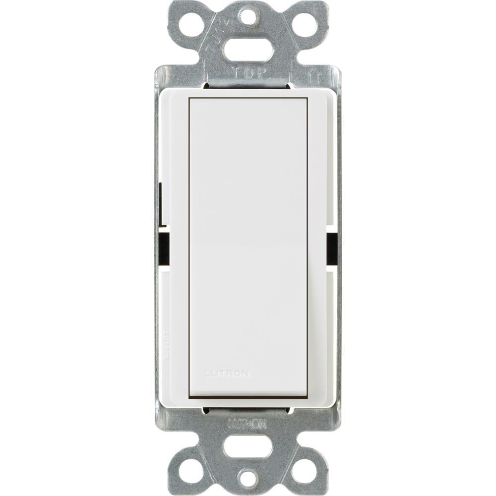 Claro 15 Amp 3-Way Rocker Switch with Locator Light, White