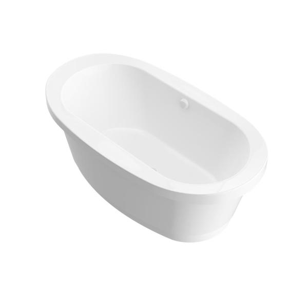 Moonstone 5.5 ft. Acrylic Center Drain Oval Bathtub in White