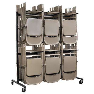 1000 lbs. 2-Tier Steel Folding Chair Cart