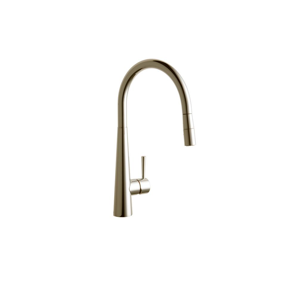 Elkay Harmony Single-Handle Pull-Down Sprayer Kitchen Faucet in ...