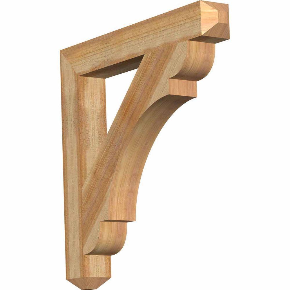 4 in. x 30 in. x 30 in. Western Red Cedar Olympic Craftsman Rough Sawn Bracket