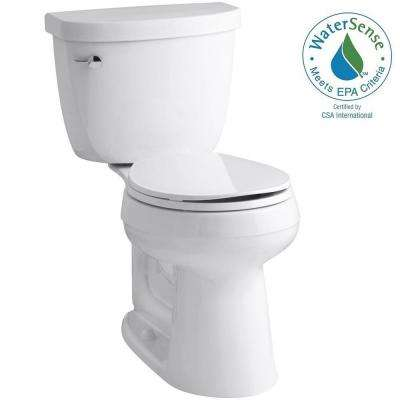 Cimarron Comfort Height 2-piece 1.28 GPF Round Toilet with AquaPiston Flush Technology in White