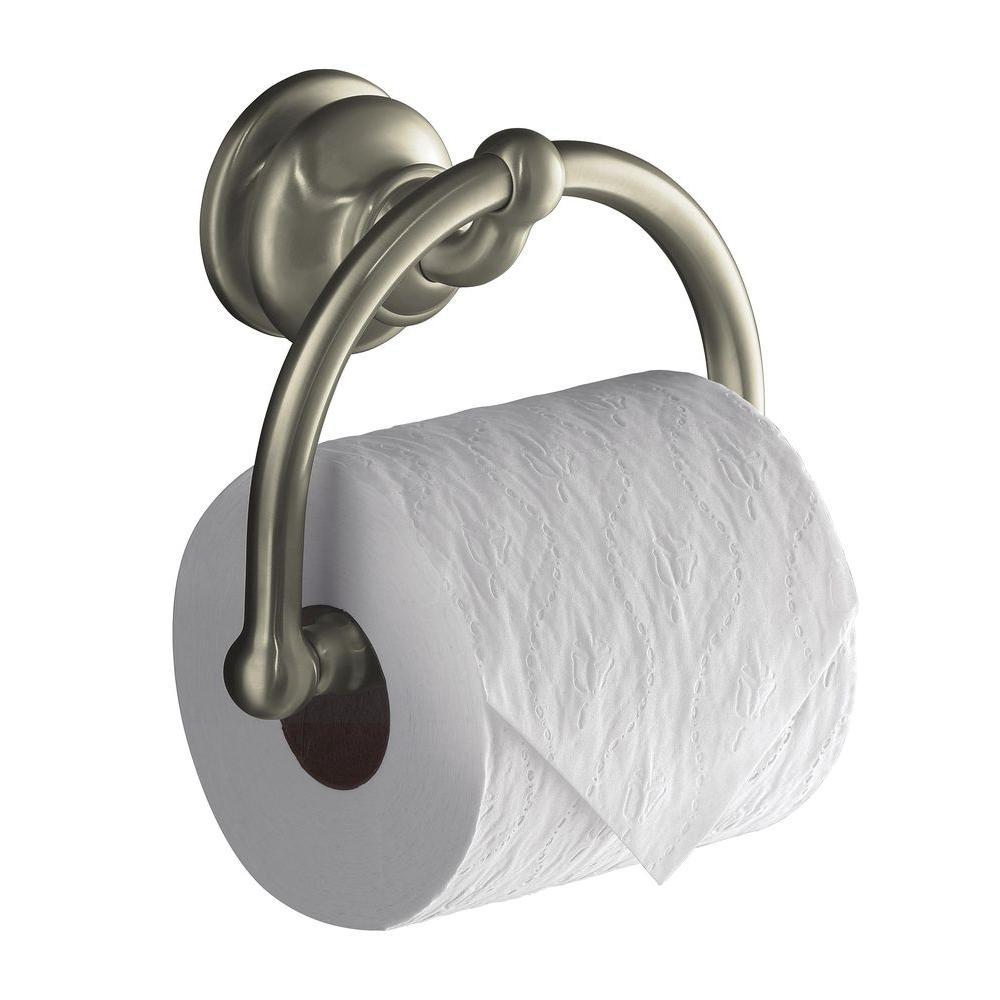 KOHLER Fairfax Toilet Paper Holder in Vibrant Brushed Nickel