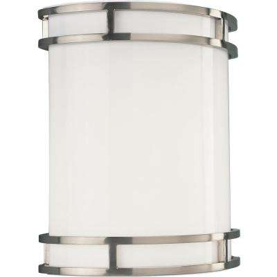 1-Light Brushed Nickel Fluorescent Wall Sconce