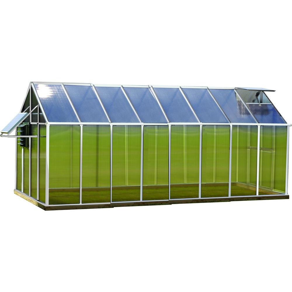 Monticello 8 ft. x 16 ft. Aluminum Mojave Greenhouse