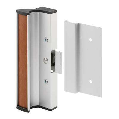 Surface Mounted Sliding Glass Door Handle with Clamp Type Latch, Flush Extruded Outside Pull