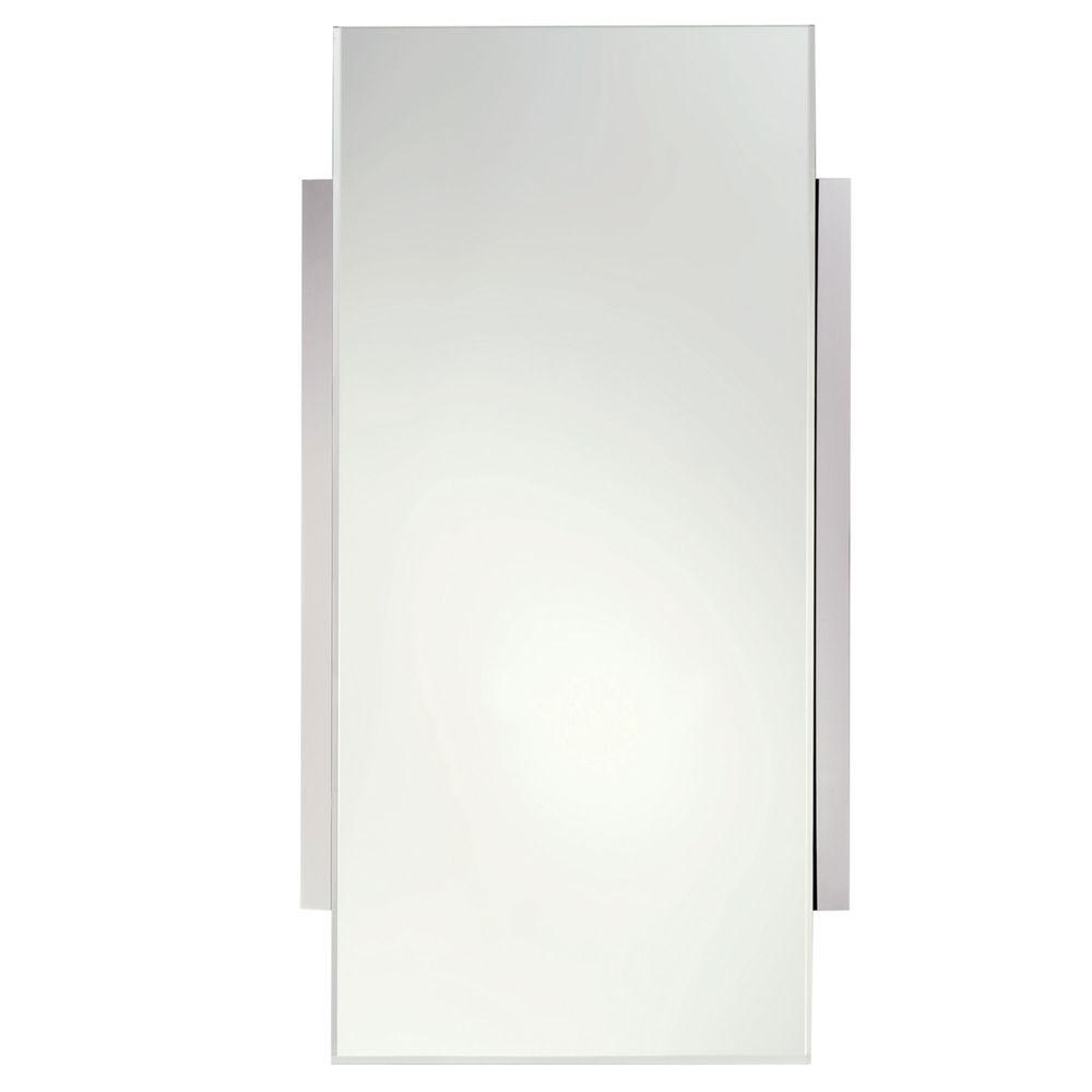 Surface 18 in. W x 34 in. L Framed Wall Mirror