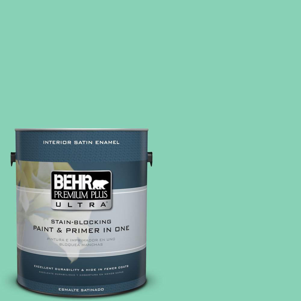 BEHR Premium Plus Ultra 1-gal. #P420-3 Tropical Trail Satin Enamel Interior Paint