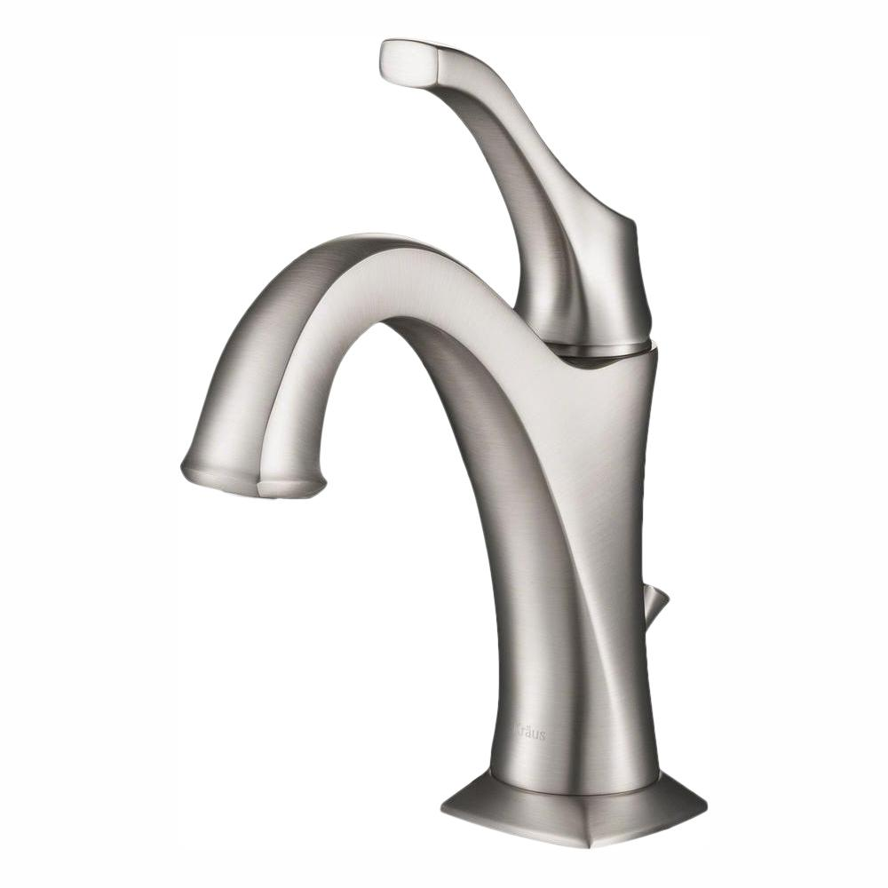 securing the rods new bathroom faucets   KRAUS Arlo Spot-Free all-Brite Brushed Nickel Single ...