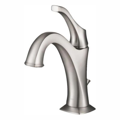 Arlo Spot-Free all-Brite Brushed Nickel Single Handle Basin Bathroom Faucet with Lift Rod Drain and Deck Plate