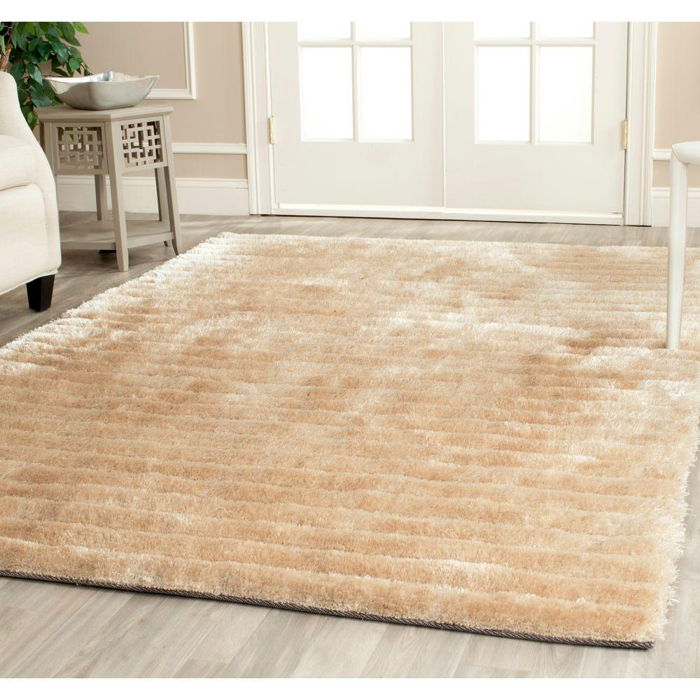 3D Shag Champagne 3 ft. 6 in. x 5 ft. 6
