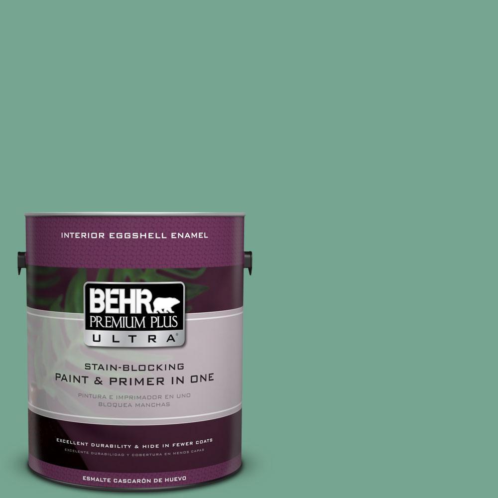 BEHR Premium Plus Ultra 1-gal. #M420-5 Free Green Eggshell Enamel Interior Paint