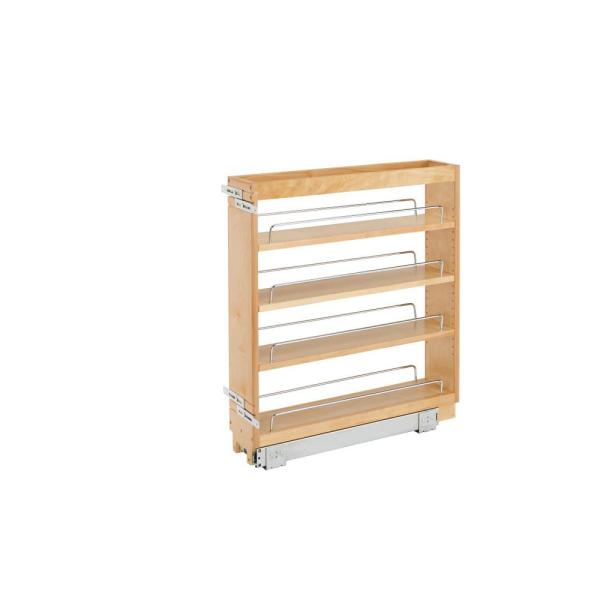 25.48 in. x 6.5 in. x 22.47 in. Pull-Out Organizer with Wood Base
