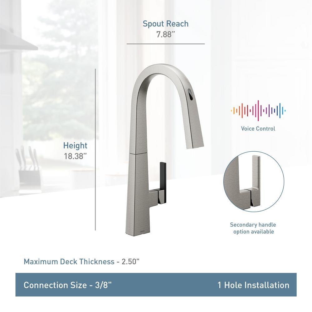 Includes Secondary Finish Handle Option Chrome Moen S55005 Nio One-Handle Bar Faucet