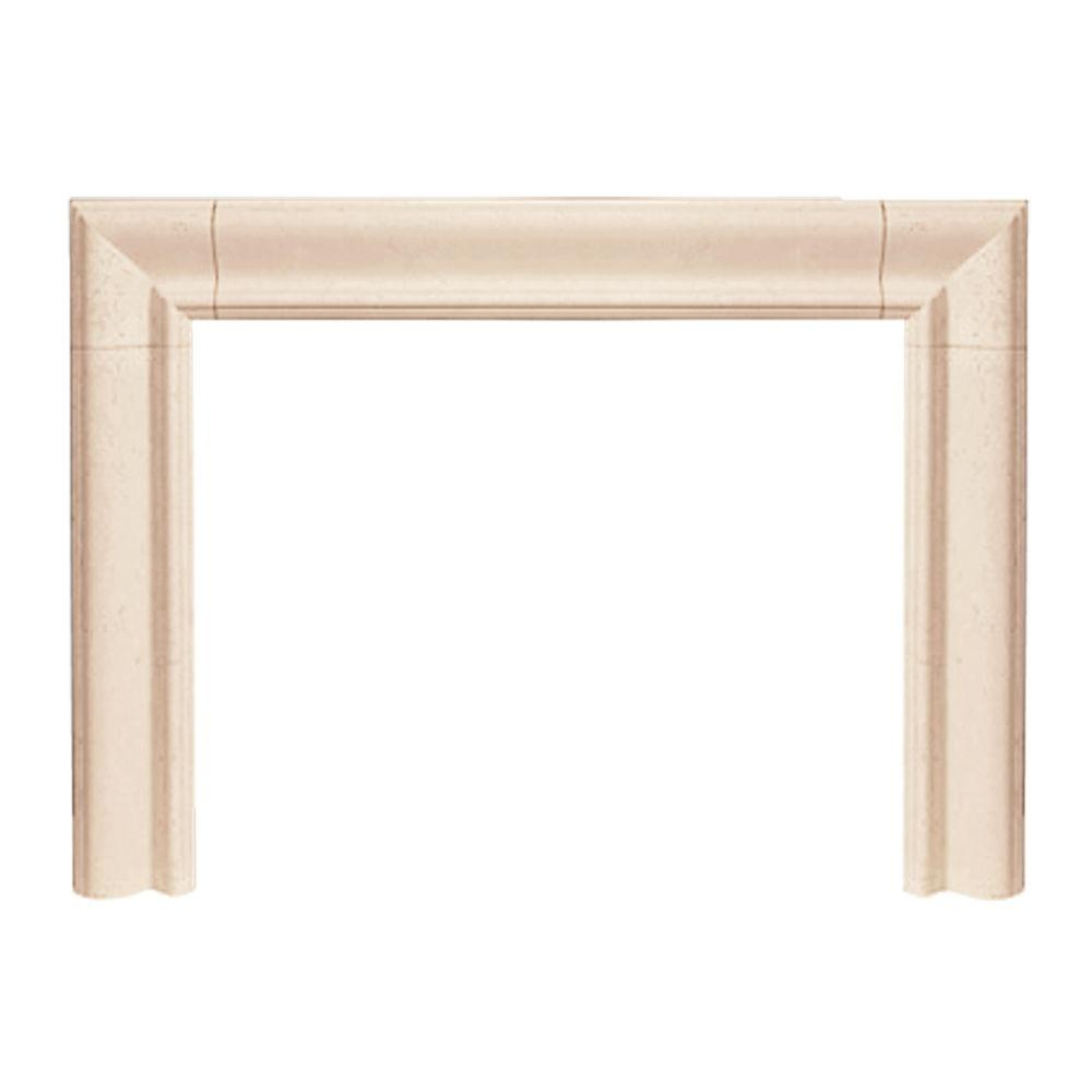 Nice Home Depot Fireplace Mantel And Surround Part - 8: Historic Mantels Builder Series Estate 47 In. X 58 In. Cast Stone Mantel
