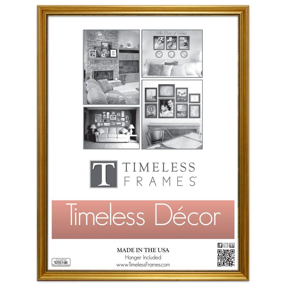 Timeless Frames Astor 1-Opening 16 in. x 20 in. Gold Picture Frame ...