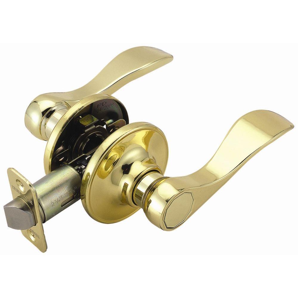 Springdale Polished Brass Passage Lever