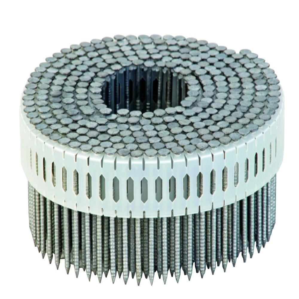 Duo-Fast 2-1/4 in. x 0.092-Gauge 0 Degree Galvanized Ring Shank Plastic Coil Siding Nails (3,600-Pack)