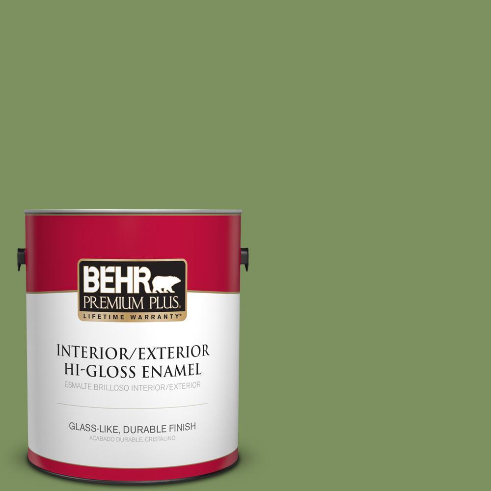 1 gal. #PPU10-03 Green Energy Hi-Gloss Enamel Interior/Exterior Paint