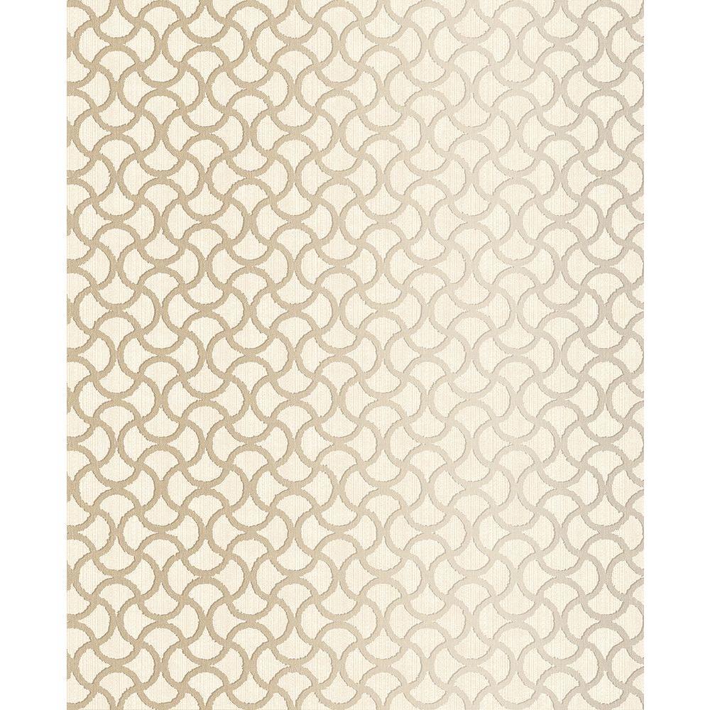 Brewster Scale Cream Geometric Wallpaper 2683-23011