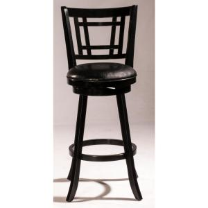 Marvelous Hillsdale Furniture Presque Isle 39 5 In Black Swivel Andrewgaddart Wooden Chair Designs For Living Room Andrewgaddartcom